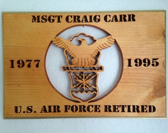 U.S. Air Force years of service plaque
