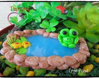 Miniature Fairy Garden Frog Pond Terrarium Pond