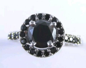 African Black Rare Moissanite Solitaire
