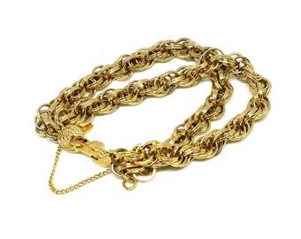 Vintage Costume 1980's Bracelet | Vintage Bracelet | Monet Bracelet | Gold Bracelet | Chain Bracelet | Statement Bracelet