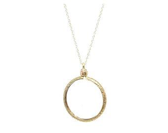 Antique Gold Locket | Victorian Locket | Silver Gilt Locket | Glass Locket | Locket Necklace | Gold Necklace | Antique Locket