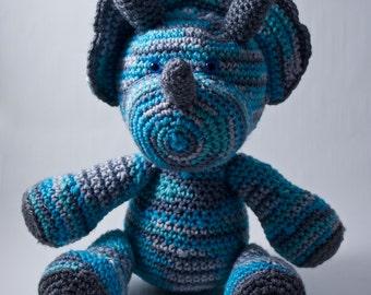 Crochet Dinosaur Toy - Icelandic / Gray