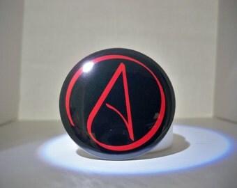 Atheist A Button, Symbol