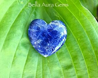 Sodalite Puffy Heart