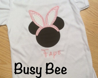 Appliqued Easter Mickey Bunny Ears Shirt or Onesie