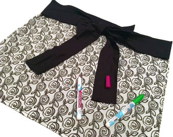 Adult Coloring Apron  - Roses - Aprons - Color on Me