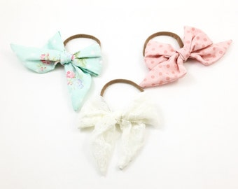 Sailor bows , baby girl headbands, bows