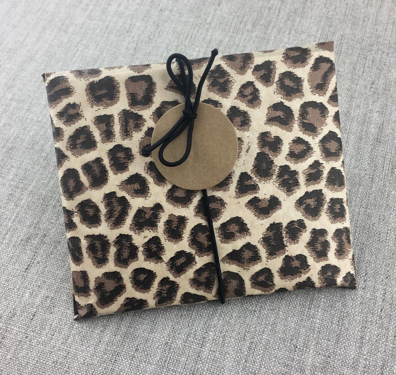 Party animal leopard print favor bag gift set of