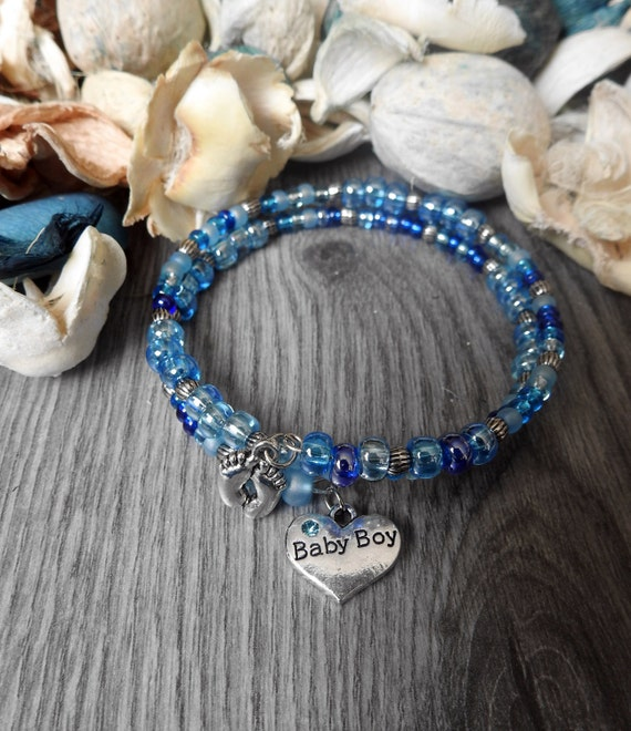 Baby Boy Gifts Jewelry : Items similar to new mom jewelry gender reveal party