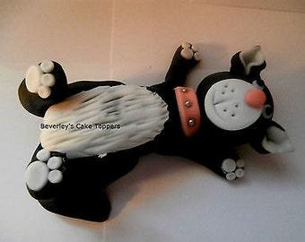Cat, kitten, cake topper, sugar paste, fondant, edible, cake decoration, birthday,