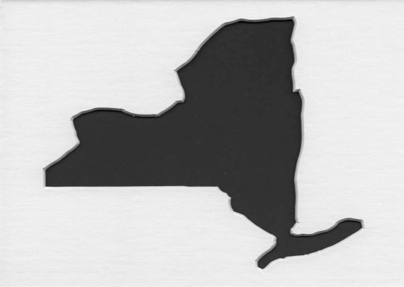 Pack Of 3 Square New York State Stencils Made From 4 Ply