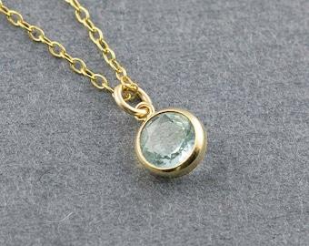 Blue Topaz Pendant, Light Blue Necklace, Blue Topaz Necklace