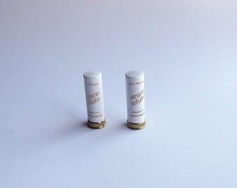 2 Vintage MAX FACTOR ERACE White Concealer All metal Case Unused