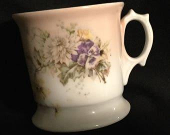 Antique Floral Shaving Mug