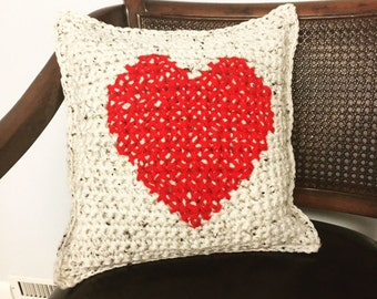Heart Pillow, Valentines Decorative Pillow