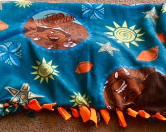 Moana ~ Maui ~ Disney ~ fleece tied blanket
