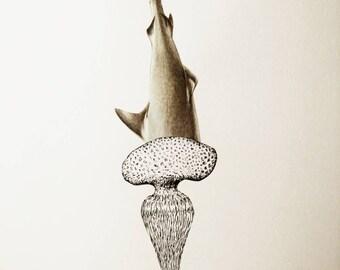 Collage art drawing #SURPIQUER # unique work