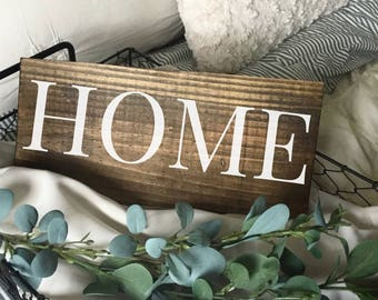 Home Wood Sign. Farmhouse Decor. Gifts Under 20. Housewarming gift. Wood Decor. Fixer Upper Decor.