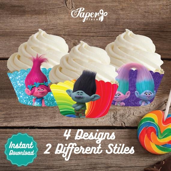 Trolls Cupcake Wraps