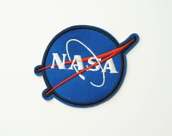 NASA Blue Embroidered Iron On Applique Patch DIY Sew-on