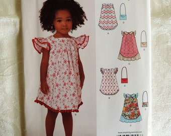 Simplicity New Look Girls' Sundress Sewing Pattern / UNCUT Factory Folded