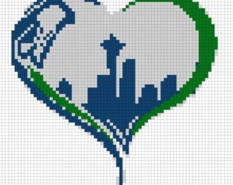 Seahawks love Seattle Cross Stitch crossover
