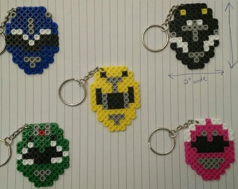Power Rangers party pack - Set of 5 keychains