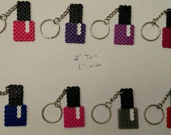 Girl's nail polish party favor pack - Set of 8 keychains or zipper pulls