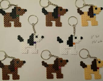 Dog party favor pack - Set of 8 keychains or zipper pulls