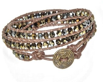 Beaded Leather Wrap Bracelet for Women Chan Luu Elegant Jewelry