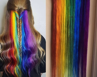 Underlights, Peekaboo Highlights, Hidden Rainbow Hair, Ocean Locks, Red Hair, Green Hair, Blue Hair, Purple Hair, Clip In Hair Extensions
