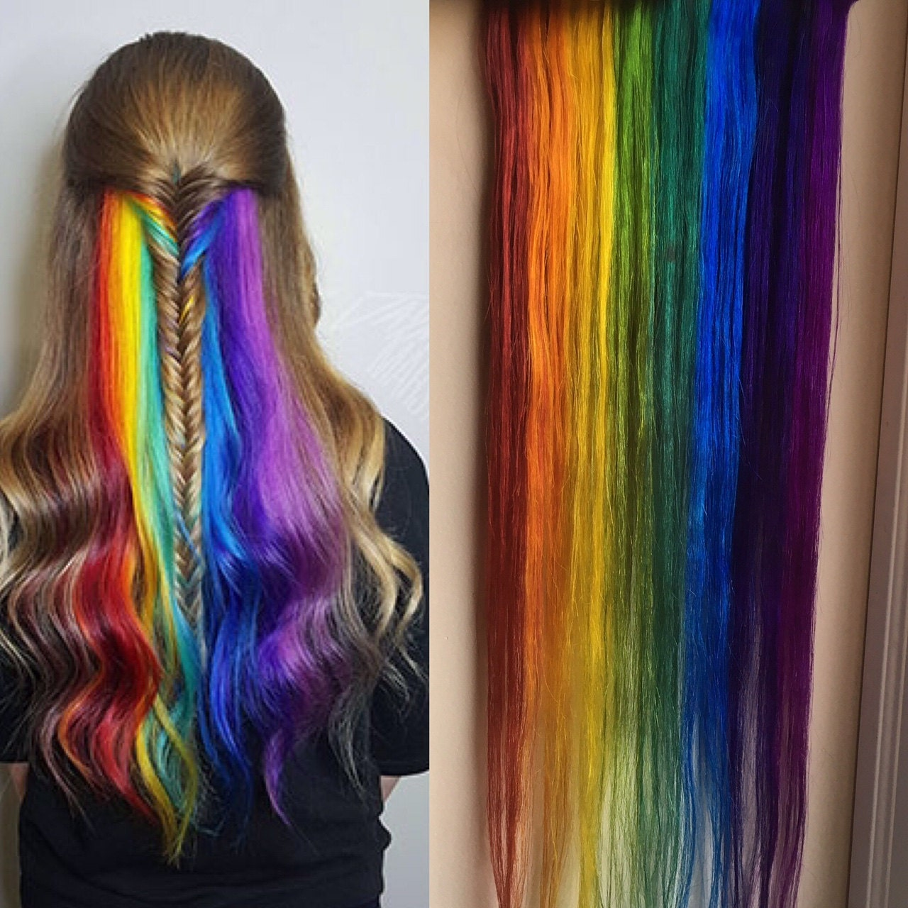 Underlights Peekaboo Highlights Hidden Rainbow Hair Ocean
