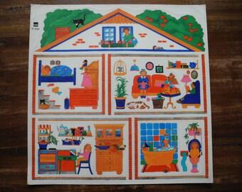Dollhouse window stickers