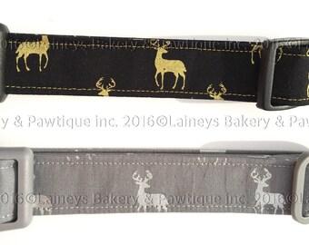 Laineys Shiny Deer Material Dog Collars