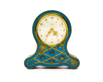 Tole Wind Up Emes Musical Alarm Clock