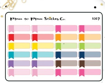 1307~~24 Quarter Box with Flag Planner Stickers.
