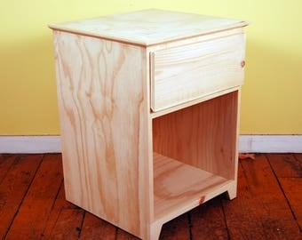 Modern Single Drawer Finished/Unfinished Small Bedroom Nighstand