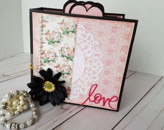 Handmade scrapbook mini album - Love