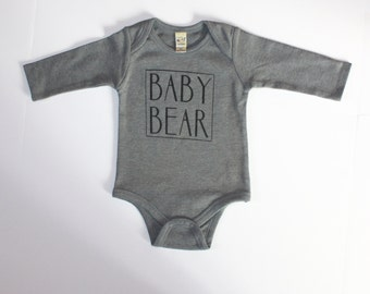 Baby Bear Long Sleeved Onesie