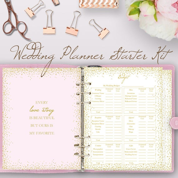 Glitter Pink Wedding Planner Book Wedding Planning Book