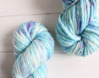 Harry Potter themed hand dyed 100% merino super bulky yarn: Aquamenti