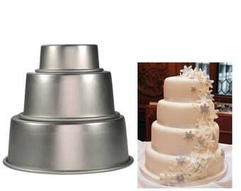 "4/6/8"" Basic Round Aluminum Bake Tin Loose Base DIY Baking Essential Tools"