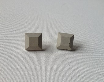 Square Jewel Concrete Earrings