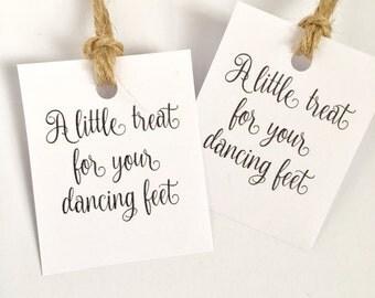 Flip flop tags, wedding flip flop tags, a little treat for your dancing feet, wedding favours, custom tags, wedding tags, slipper taga