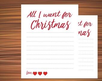 Christmas List All I Want For Christmas Christmas Wish List Grown Up Christmas  List Make A