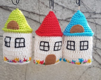 Housewarming gift miniature houses baby room decor sweet home small house fairy house ornament New House gift Moving gift baby deco stuffed
