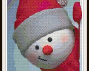 Snowman Cross Stitch - Winter Cross Stitch Pattern