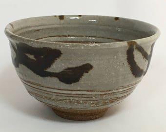 Japanese Vintage Chawan / Matcha Chawan Bowl/  Green Tea Bowl / Japanese Ceramics / Handmade Pottery / Handmade Ceramics / Japanese Decor