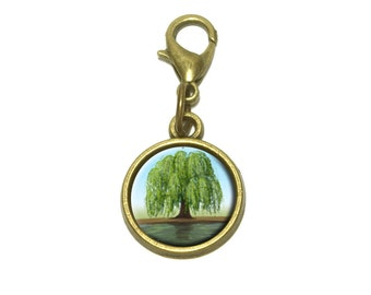 Old Weeping Willow Tree Cute Bracelet Pendant Charm