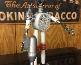 "Steampunk Upcycled Robot Sculpture / ""Flux"""